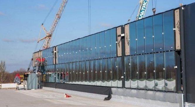 В Запорожье начали остекление здания нового терминала аэропорта, — ФОТО