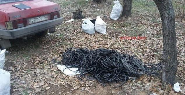В Запорожье задержали двух сотрудников СБУ, воровавших кабель